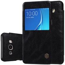 Флип чехол для Samsung Galaxy J7 2016 j7108 5.5 дюймов Nillkin Qin блеск чехол Samsung Galaxy J7 2016 чехол
