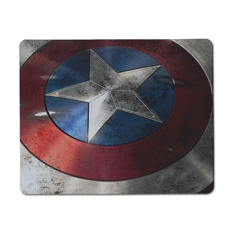 Maiyaca щит капитана Америки офисных мышей резиновая Мышь Pad Размеры для 25x29 см игровой Мышь колодки