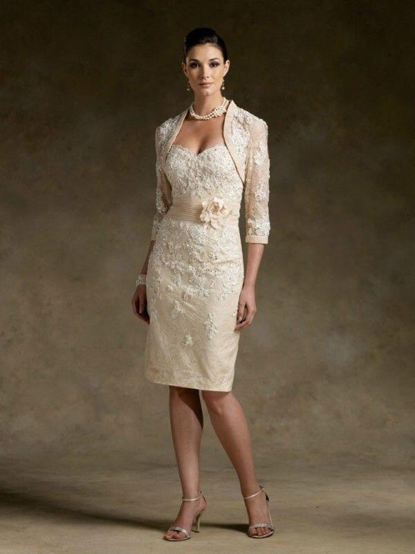 applique champagne de la madre de novia vestidos con chaqueta