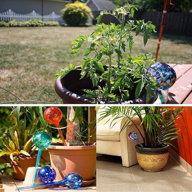 Bloemen In Pot.Us 4 01 31 Off Bal Vorm Drip Watering Lampen Glazen Automatische Plant Bloemen Pot Zelf Gieter Irrigatie Tool Voor Indoor Outdoor Tuingereedschap In