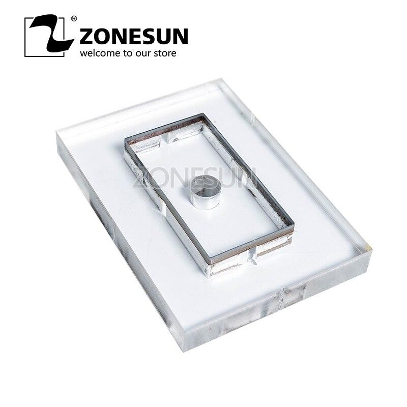 ZONESUN personnalisé en cuir forme laser poinçon die, lame en acier PVC/EVA feuille cutter moule, montre à assembler soi-même ceinture portefeuille en cuir coupe die