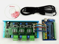 MACH3 USB CNC 5 Axis 100KHz Smooth Stepper Motion Control card breakout board+TB6600 3 Axis 4.5A Stepper Motor Driver board
