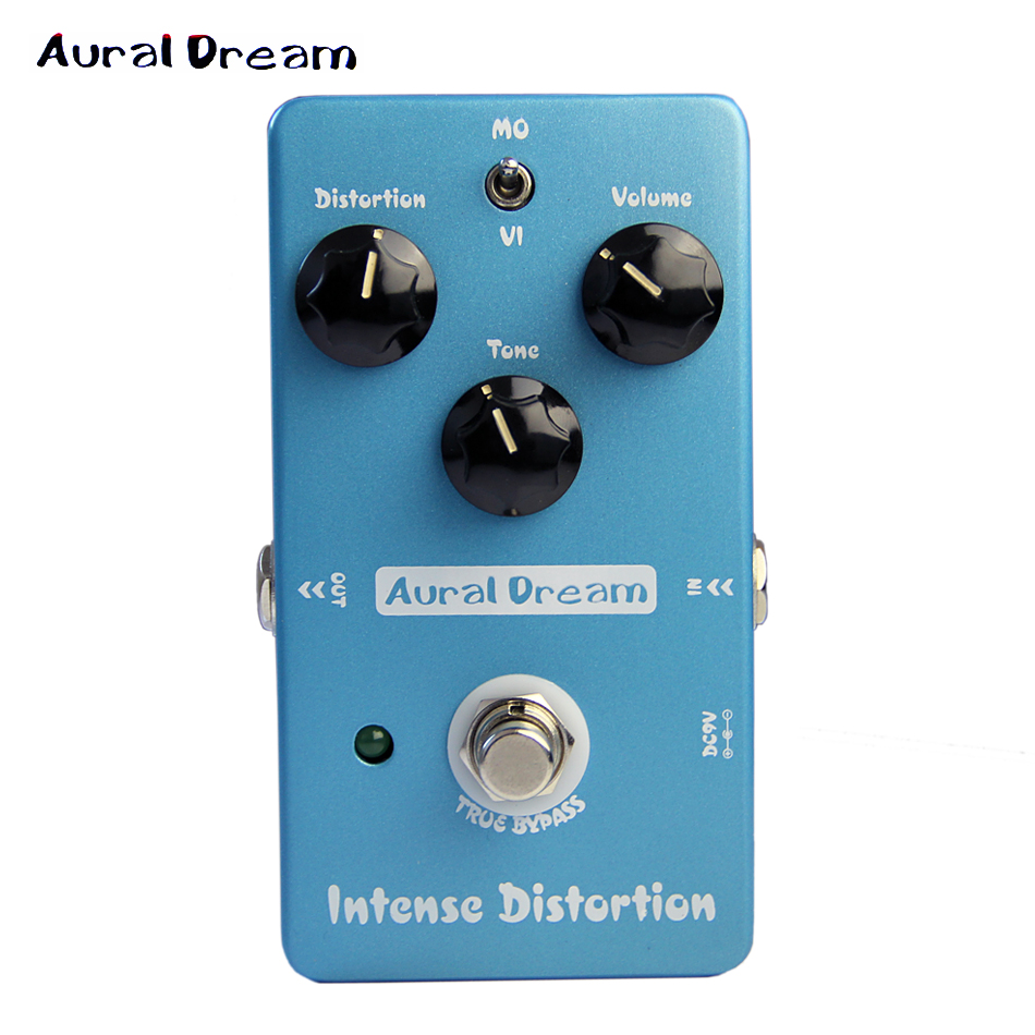Aural Dream True Bypass Intense Distortion Effects Pedal for Guitar / Electric Guitar Effectors NEW ARRIVAL PROMOTION nux guitar mod force electric guitar effectors pedals 12 multi modulation true bypass musical instrument parts