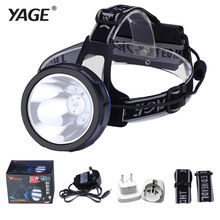 YAGE Rechargeable lampe frontales Headlamp on Your Forehead Flashlight Head Light Led Lintern Lithium Ion head lantern HighLight