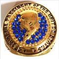 New Fashion Gold Plated Vintage 2016 Trump 45th Of The President Of The United States Championship Ring
