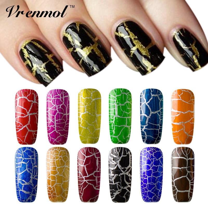 Vrenmol 1pcs New Arrival 12 Colorful Cracking Nail Polish