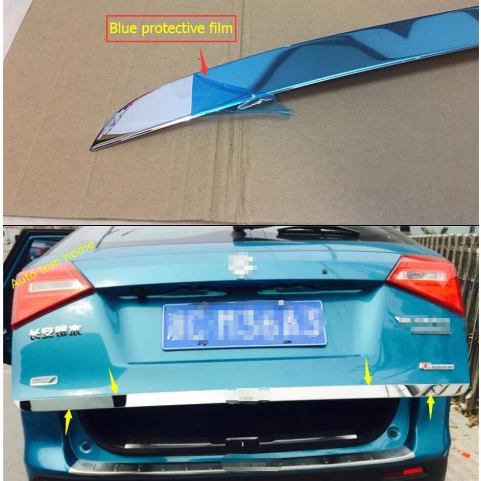 Lapetus Rear Trunk Tailgate Door Tail Bottom Strip Lid Streamer Cover Trim Stainless Steel Fit For Suzuki Vitara 2015 - 2019