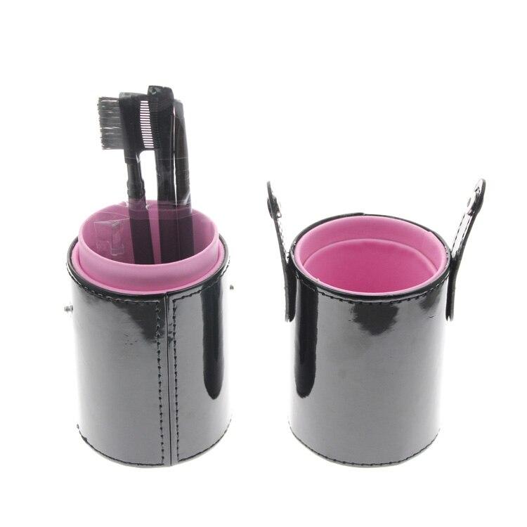 Cylinder Brush Holder 4Pcs Eyebrow Makeup Cosmetic Set Include Eyebrow Brush Eyebrow Tweezer Eye Shadow Brush Eyelash Brow Comb