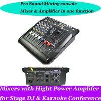 Pro 4 канала Live Studio звуковые Микшеры микшер микшерный пульт 800 Вт мощность усилители домашние