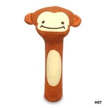 7 Style Stuffed Handbells Baby Rattles Cartoon Toy Animal Squeaker Bar Baby Toys Hand Puppet Enlightenment