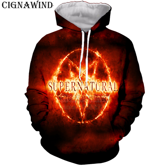 eaad98731698 New Harajuku hoodie men women 3D printed hot TV Supernatural hoodies Long  sleeve sweatshirts hip hop hooded tops streetwear