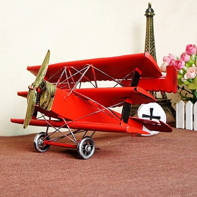 Big Vintage home decor creative plane model Home decoration accessories iron handmade crafts rustic home decor Christmas gifts in Figurines Miniatures from Home Garden