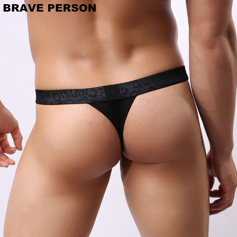 BRAVE PERSON Men Sexy Lace Transparent Personal Briefs Bikini G-string Thong Jocks Tanga Underwear Shorts Exotic T-back B1138