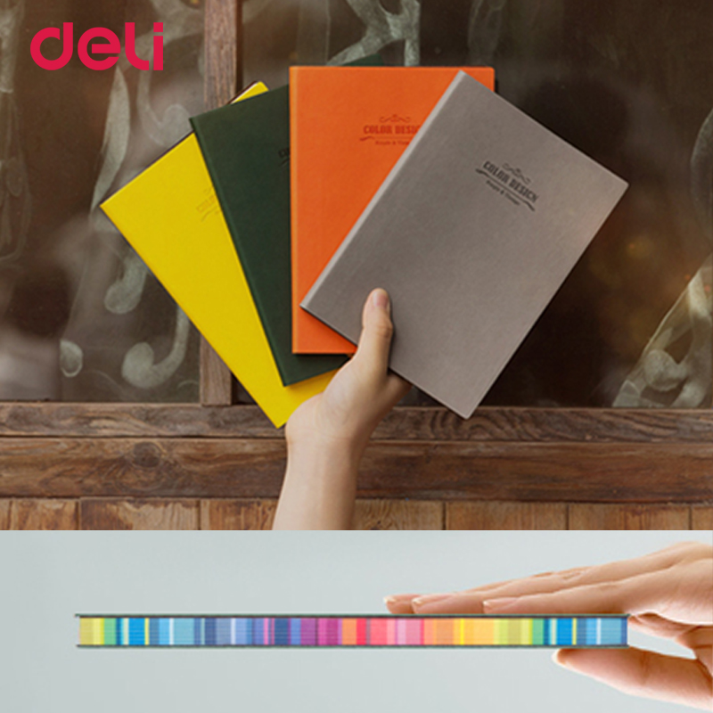 Deli NOTE BOOK business Stationery Office & school notes Paper Notebook for slimming records Diary memos Journal Sketchbook