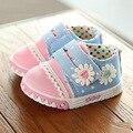 Весна baby girl обувь впервые ходунки прекрасный цветок принцесса обувь мода повседневная кроссовки холст мягкой подошвой обуви малыша