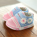 Primavera baby girl shoes primeros caminante princesa hermosa flor zapatos de moda zapatillas de deporte casuales de lona únicos zapatos del niño suaves