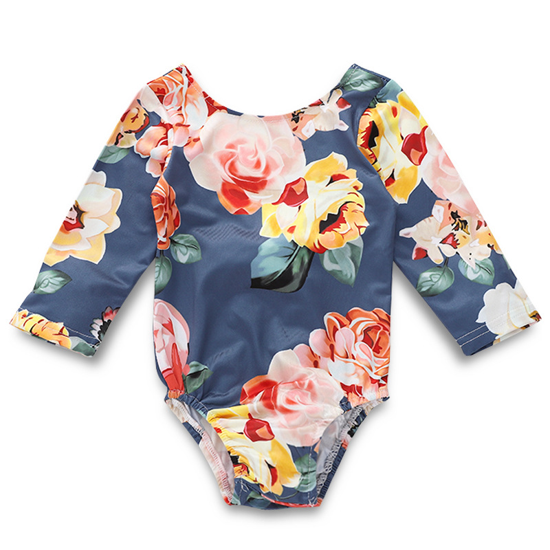30ac59f6a59ee 2019 Fashion Floral Baby Girl Long Sleeve Onesie Kawaii White Lace Bowknot  Baby Girl Bodysuit Backless Toddler Bodysuit-in Bodysuits from Mother &  Kids on ...