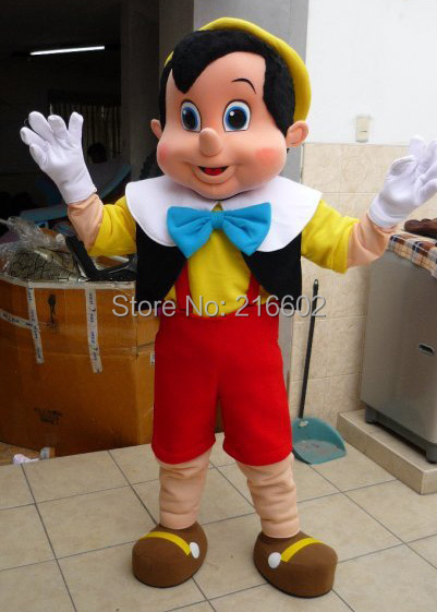Pinocchio Mascot Kostume Voksen Halloween Fancy Dress Cosplay - Kostumer