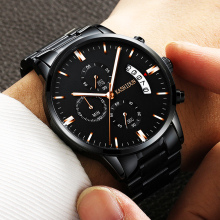 KASHIDUN.Sports Multifunction Men's Wrist Watches Watchband Top Luxury Brand Males Chronograph Quartz Clock Boy Man Wristwatches