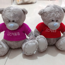 1PC Teddy Bear Plush Toys Sweater Bear 22CM Soft Stuffed Animals Cute Patch Bear Plush Dolls For Baby Kids Birthday Gifts