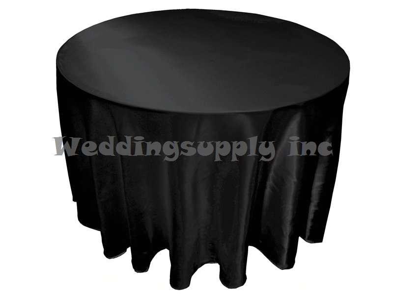 Amazing 10 Pcs 90u0027u0027 Round Black Satin Tablecloth Cheap Table Cloth For Wedding Free  Shipping