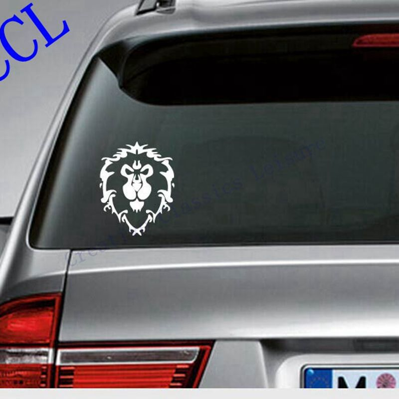 Game WOW World of Warcraft Alliance car decal sticker - Horde or Alliance, free shipping s2087 fvip wow for the horde world of warcraft backpack school bags luminous backpacks tribe alliance nylon mochila galaxia