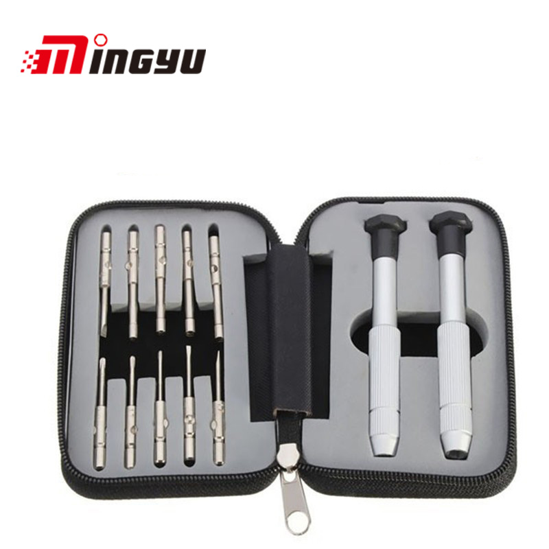 10-IN-1 Professional Glasses Watch Repair Precise Screwdriver Set Suit Watches Hex Tools Handle Cutter Head