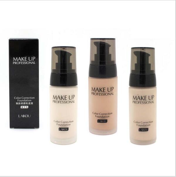 Best selling Makeup LAIKOU Base Face Liquid Foundation BB Cream Concealer Moisturizer Oil-control Whitening Waterproof Maquiagem