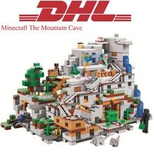 Лепин 18032 Minecrafted цифры горы пещера Модель Строительство наборы Конструкторы кирпичи игрушечные лошадки для детей Совместимость Legoing 21137