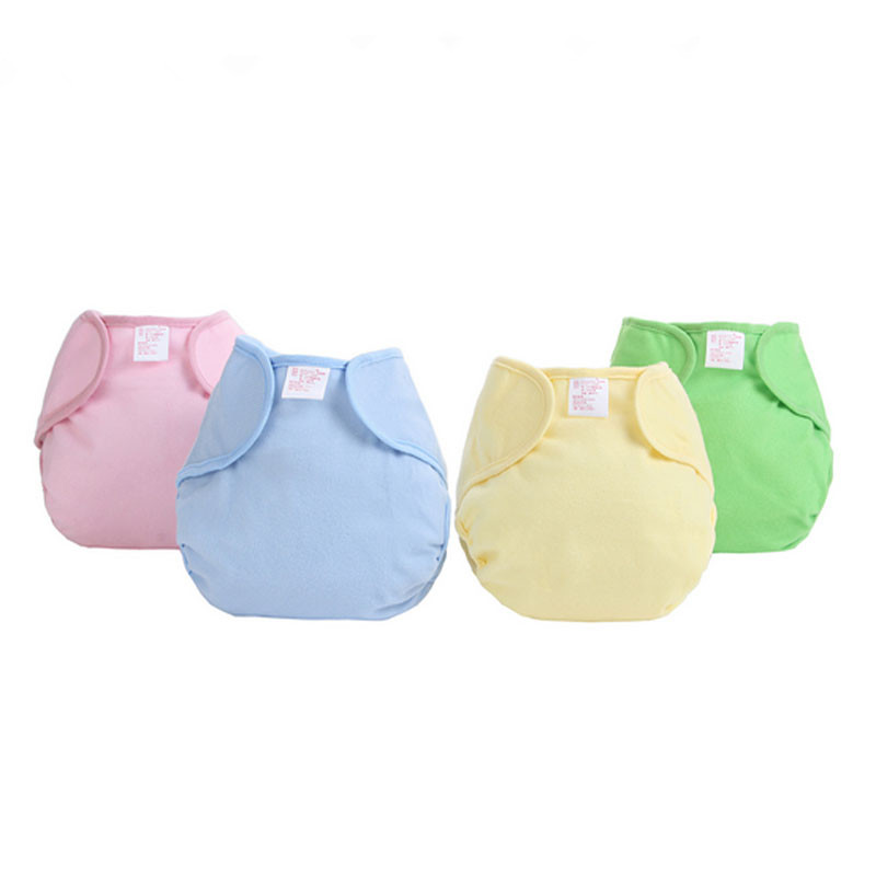 5pcs/lot 4 Colors Reusable Baby Infant Nappy Cloth Diapers Soft Cotton Solid Color Baby Nappy TRX0026