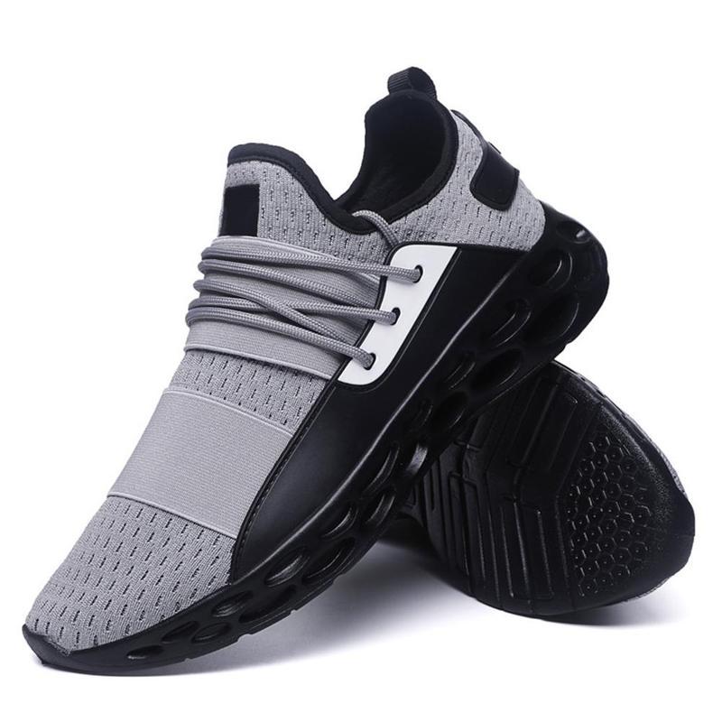 Модная мужская обувь из сетчатого материала; Мужская дышащая удобная повседневная обувь на шнуровке; износостойкие мужские кроссовки