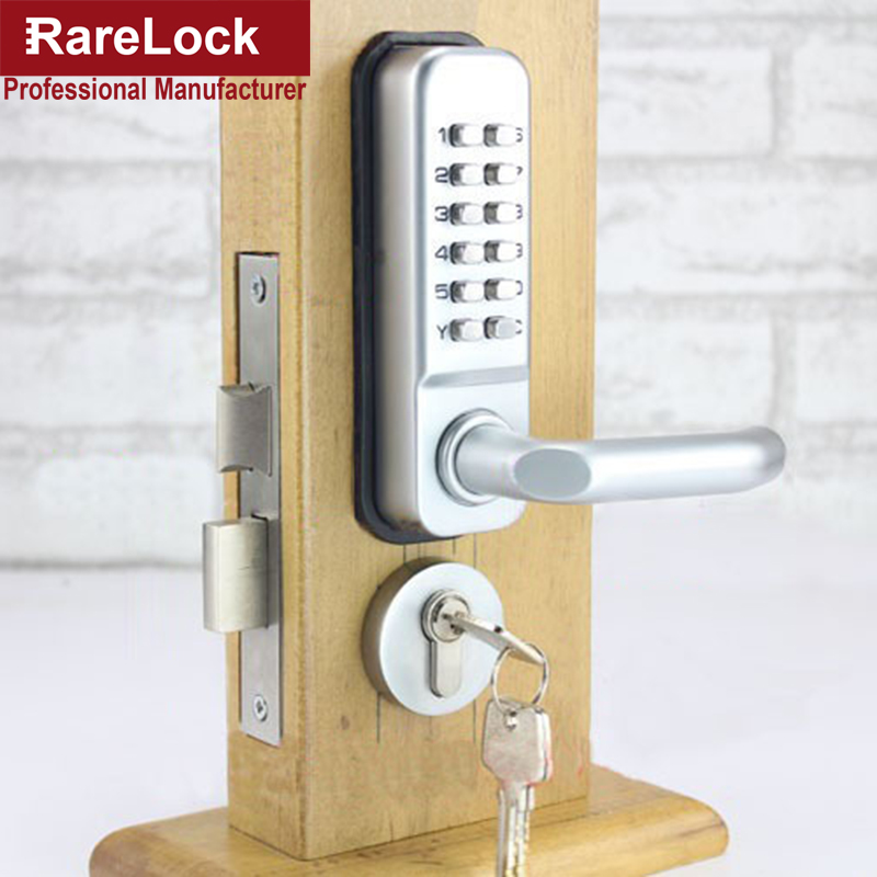Rarelock zs49 combination handle door lock with keys for - Bedroom door knobs with key lock ...