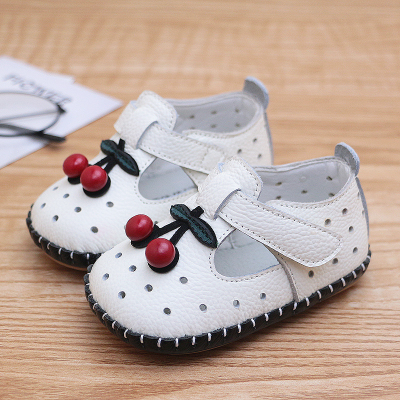 2019 Newborn Baby Summer Shoe Soft Bottom Leather Toddler Shoes Non Slip Princess Kid First Walkers Baby Prewalk Shoes White Red