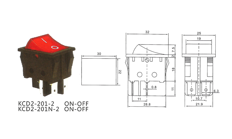 RS360 KCD2 201N 2 light illumination t85 250vac on off automotive 2  position rocker switch-in Switches from Lights   Lighting on Aliexpress.com    Alibaba ... 8fd2ac347ea