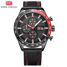 MINI FOCUS NEW Brand Men Sports Watches Men's Quartz Clock Man Army Military Leather Wrist Watch Calender Relogio Masculino