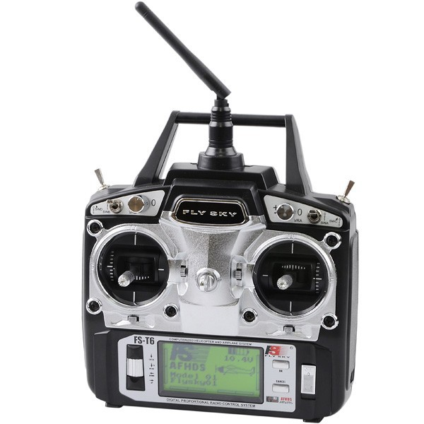 Flysky FS - T6 2.4G AFHDS 6 Channel Radio System Transmitter + Receiver Model 2 With LED Displayer Hot Selling полотенца банные spasilk полотенце 3 шт