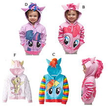 ФОТО 2016 new fashion jacket kids coat my pony girls coat, hoodies, baby girls cotton jacket children clothing fashion outwear
