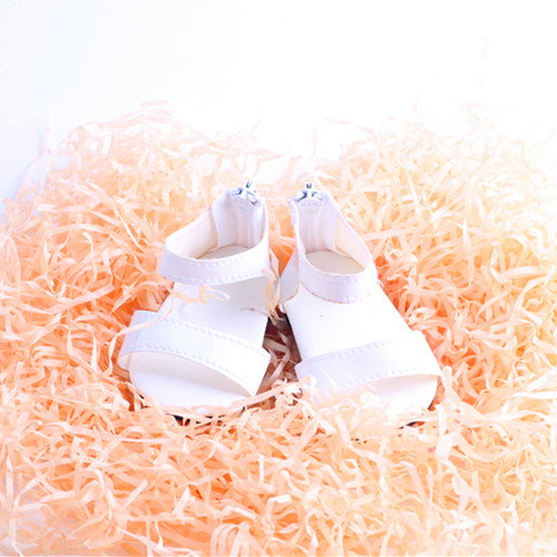 Super cute Doll shoes white sandals for 18 inch American girl doll for baby gift ,Doll accessories [mmmaww] christmas costume clothes for 18 45cm american girl doll santa sets with hat for alexander doll baby girl gift toy