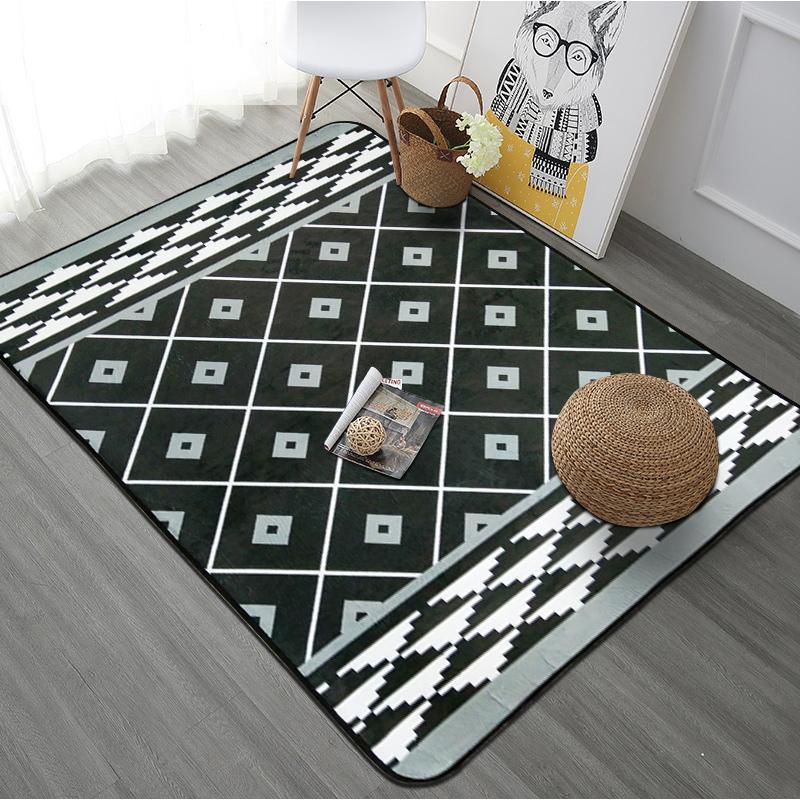 Творческий полосатый ковры для гостиной ковер журнальный столик спальня диван большая площадь ковер кухня для ванной нескользящие Tapete /ков...