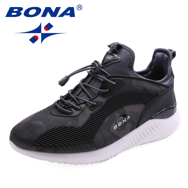 BONA New Popular Style Men Running Shoes Outdoor Walking Jogging Shoes Lace Up Athletic Shoes Mesh Sneakers Fast Free Shipping