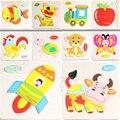Деревянные Блоки Животных Фрукты Малыш Детей Обучающие Игрушки Мультфильм Для Ребенка