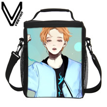 Здесь можно купить   VEEVANV BTS Cartoon 3D Insulated Print Lunch Bags Cartoon Cooler Children Picnic Food Bags Fashion BTS  School Picnic Lunch Bag Special Purpose Bags