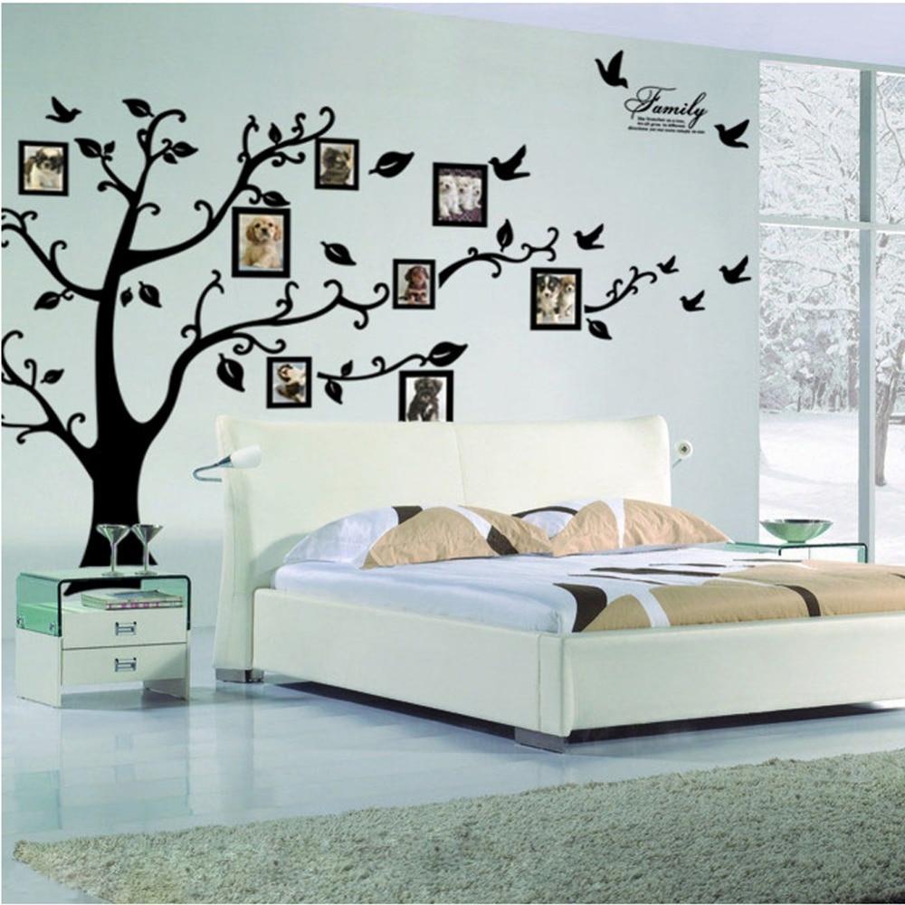 gran rbol etiqueta de la pared marco de fotos de la familia de vinilo diy d