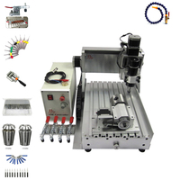 4 axis PCB drilling cnc 3020 wood router 3  engraving machine with limit switch and cutter collet clamp vise  kits