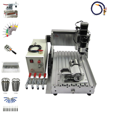 цена на 4 axis PCB drilling cnc 3020 wood router 3  engraving machine with limit switch and cutter collet clamp vise  kits