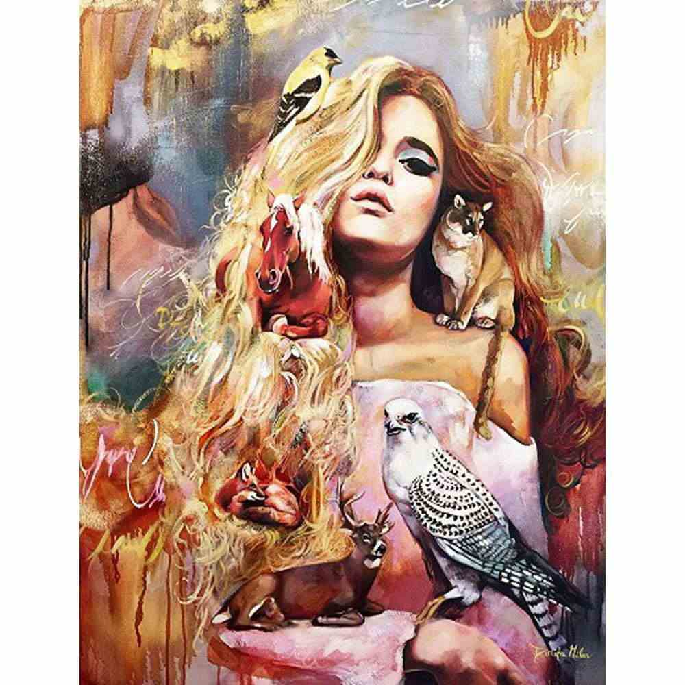 DIY PBN Sexy Girls Arcylic Painting By Numbers On Canvas Framed Wall Pictures Art For Living Room Home Decoration