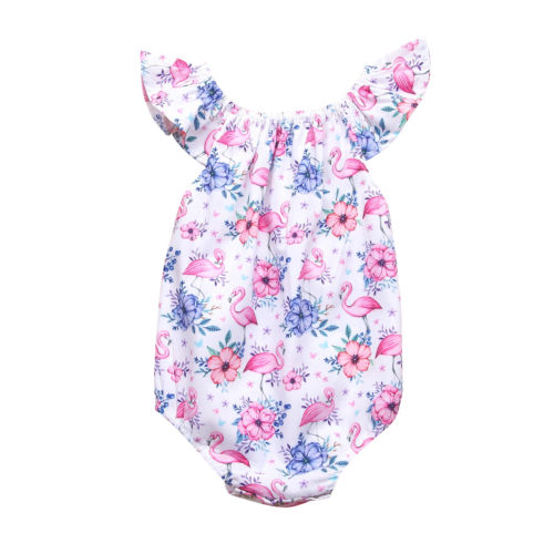 Newborn Toddle Baby Girls Bodysuit Jumpsuit Cotton Sleeveless Playsuit Summer Clothes Sunsuit Baby Girl 0-18M