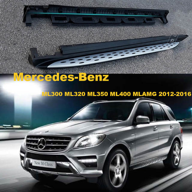 Online Car Running Boards Auto Side Step Bar Pedals For Mercedes Benz Ml300 Ml320 Ml350 Ml400 2017 Highquality Brand New Nerf Bars Aliexpress