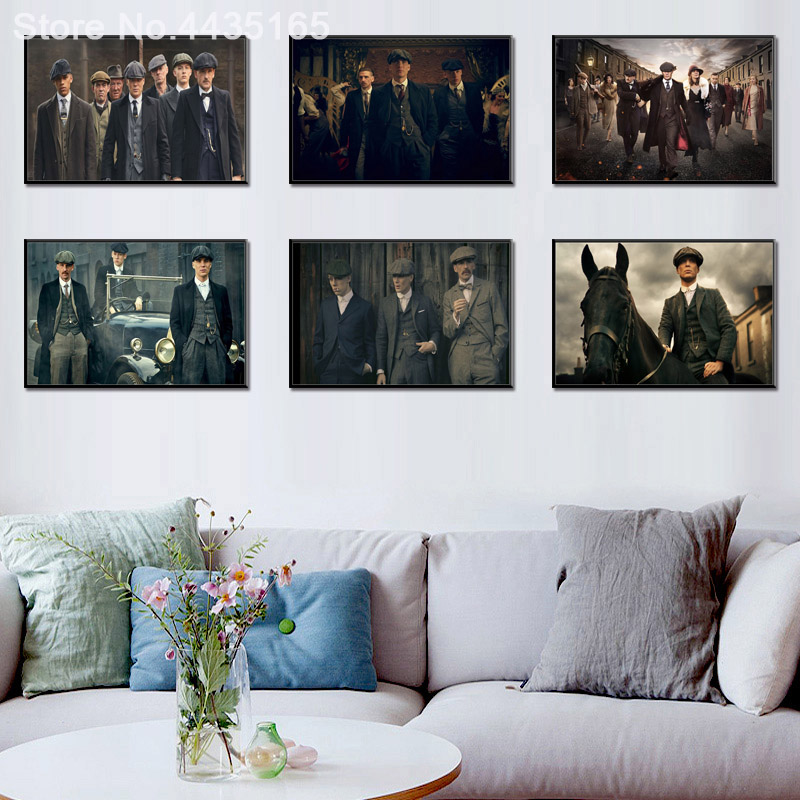 Canvas Painting Posters Wall-Decor Prints Living-Room Home-Decoration Blinders Peaky