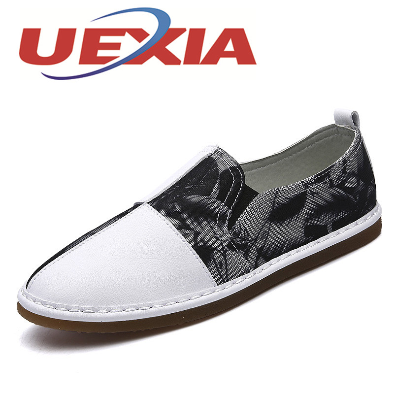 2017 New Fashion Men Shoes Casual Pu Leather Breathable Flats Loafer Handmade Comfortable Driving Shoes  Zapatillas Hombre Black zapatillas hombre 2017 fashion comfortable soft loafers genuine leather shoes men flats breathable casual footwear 2533408w